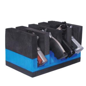 4 Pistol Soft Cradle Holder Horizontal Format Foam