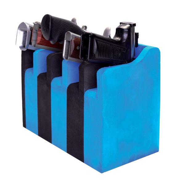 5 Pistol Soft Cradle Holder Vertical Format Foam