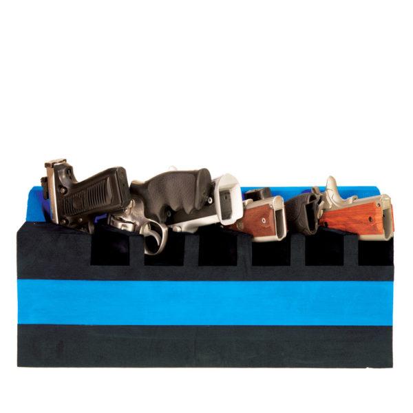 6 Pistol Soft Cradle Holder Vertical Canted Format Foam