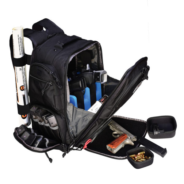 Executive Backpack W/cradle For 5 Handguns